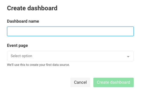 Create a dashboard