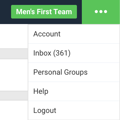 A screenshot showing an example of where the Smartabase inbox can normally be seen.