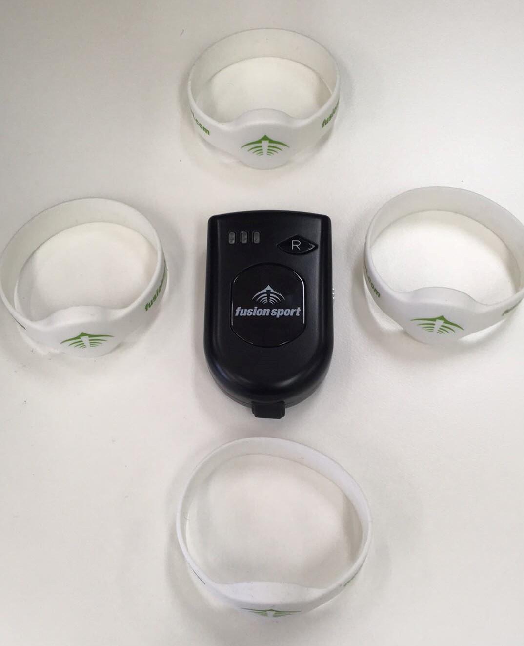 Image of Smartscan mobile RFID reader and athlete bands