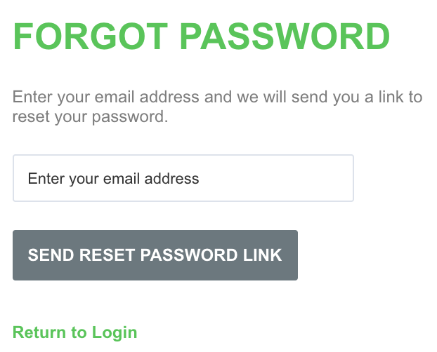 A screenshot showing an example of the process for resetting your password