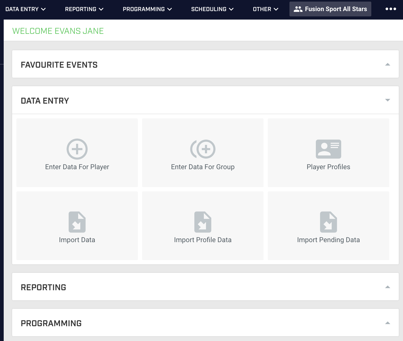 A screenshot showing the new font on the home page