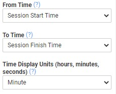 A screenshot of the field advanced properties for a time difference calculations